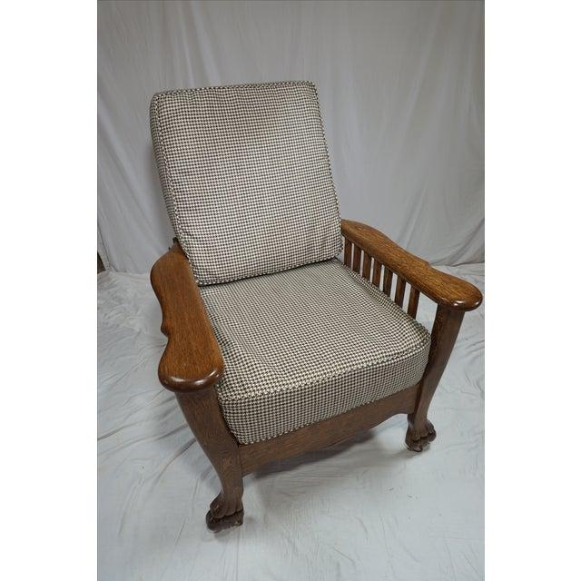 1900s Arts & Crafts Oak Morris Chair - Image 2 of 11
