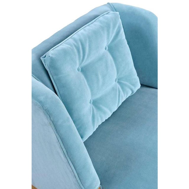 Mid-Century Modern Blue Slipper Chairs - A Pair - Image 2 of 4