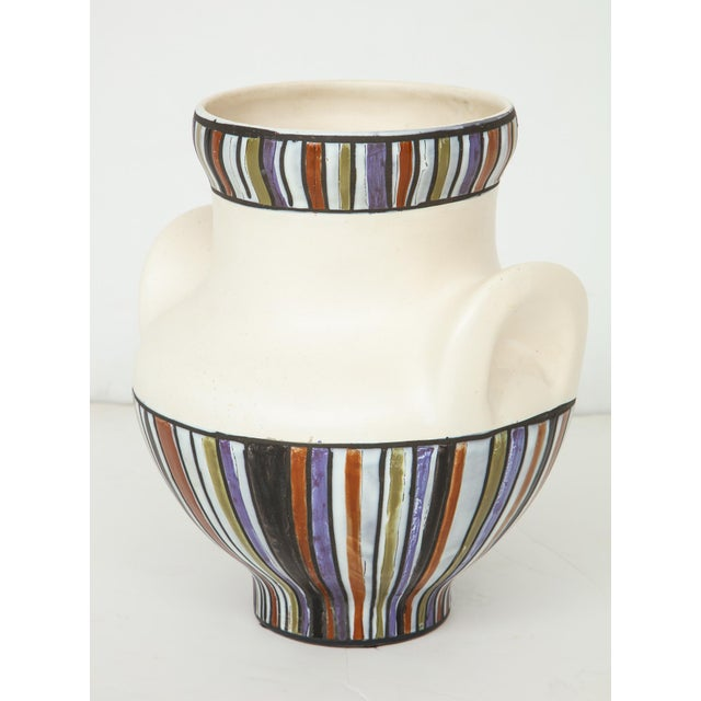 Mid-Century Modern Large Roger Capron Oreilles Vase For Sale - Image 3 of 12