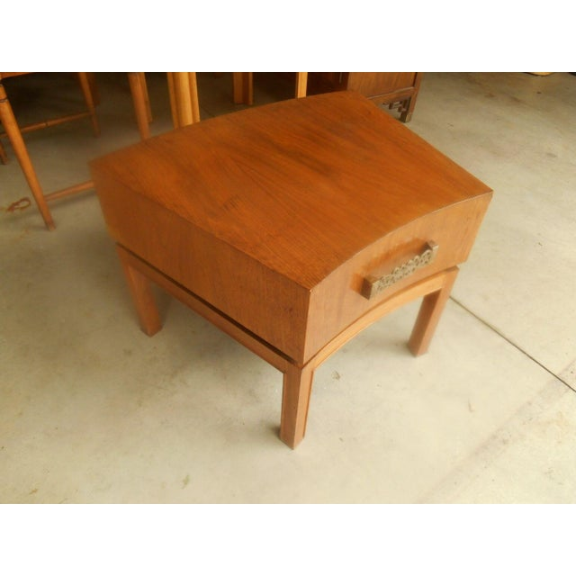 Mod Floating Butcher Block Table For Sale - Image 9 of 9