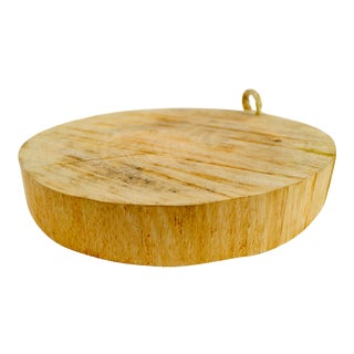 Round Wood & Rope Handle Cutting Board