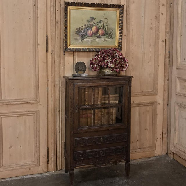 19th Century Country French Louis XVI Vitrine For Sale - Image 11 of 13