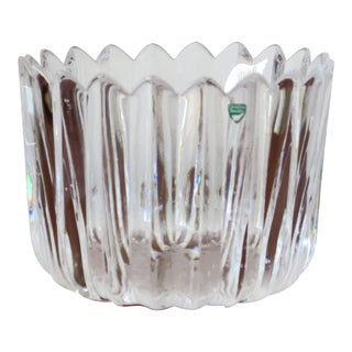 "Orrefors ""Crown"" Heavy Crystal Bowl For Sale"