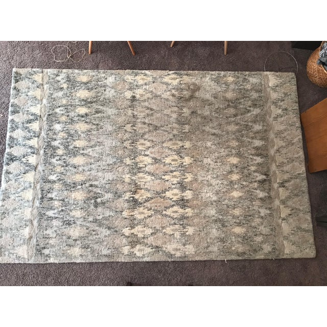 West Elm Handcrafted Ikat Wool For Sale - Image 11 of 11
