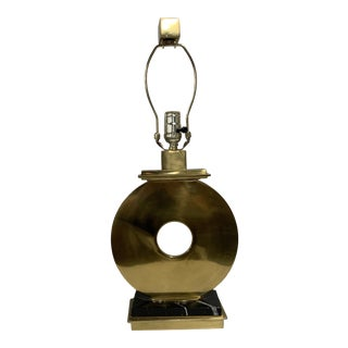 Contemporary Brass and Marble Table Lamp For Sale
