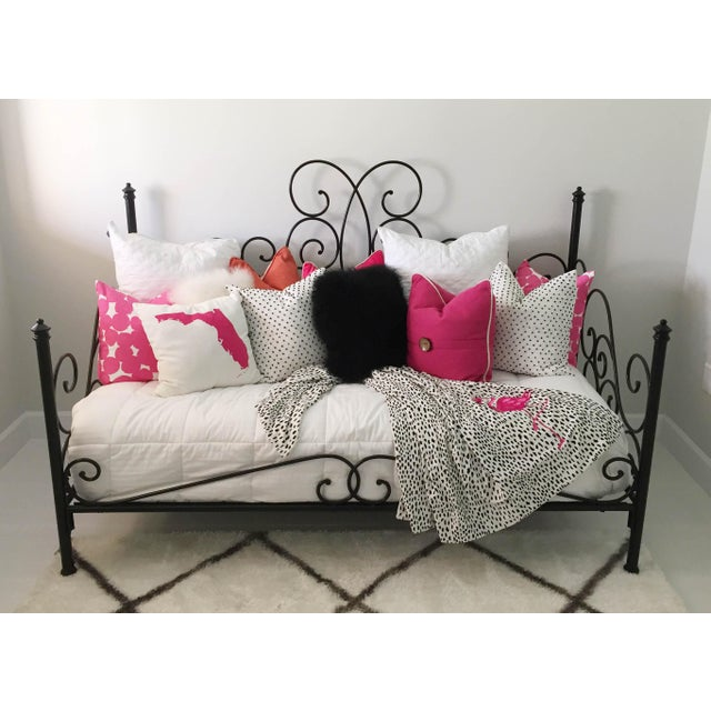 Iron Pottery Barn Amalie Iron Daybed For Sale - Image 7 of 12