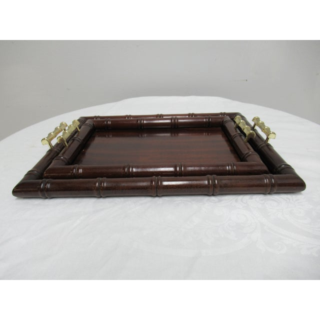 1990s Vintage Bombay Company Faux Bamboo Stacking Trays - A Pair For Sale - Image 12 of 12
