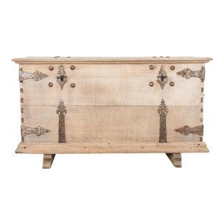 19th Century Oak Trunk For Sale