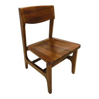 Vintage Walnut Architectural Office Chair Mid Century