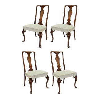 Vintage Mid-Century Hickory Chair Company Queen Anne Style Dining Chairs - Set of 4 For Sale