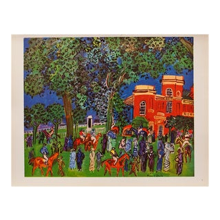 1940s Raoul Dufy Paddock Original Period Swiss Lithograph For Sale