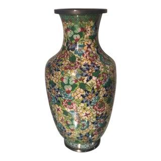 Unusual Antique Chinese Cloisonné Flower Vase For Sale