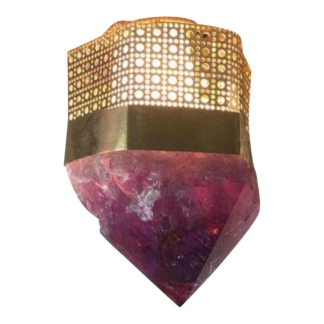 Customizable Semi-Precious Light Fixture For Sale