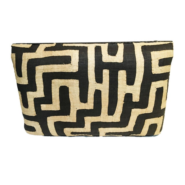Fiber African Kuba Applique Textile Low Stool For Sale - Image 7 of 9