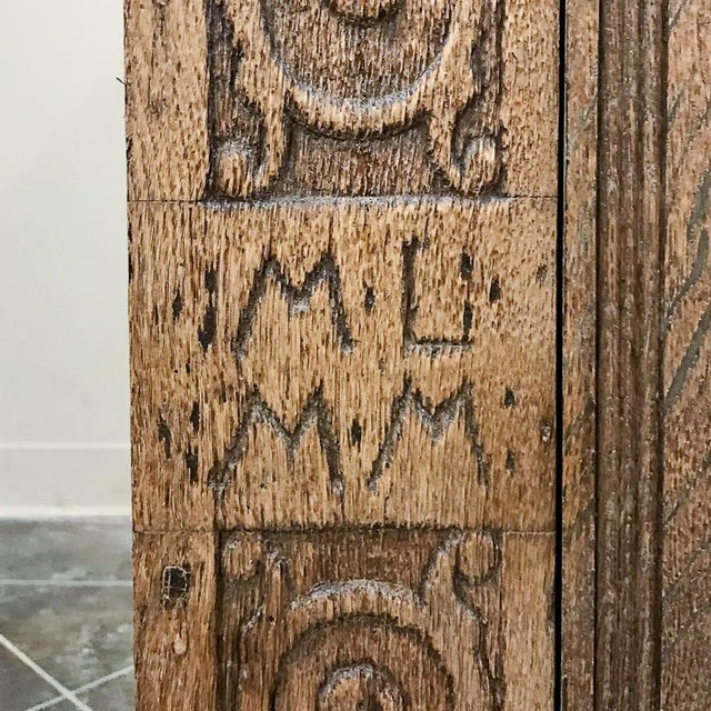 Mid 19th Century 19th Century English Stripped Oak Buffet For Sale - Image 5 of 13