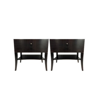 Polidor Symphony Collection Ebony Nightstands- a Pair For Sale