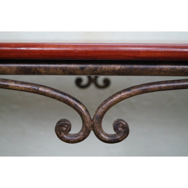 Brown Jordan Tuscan Style Console Table - Image 6 of 10