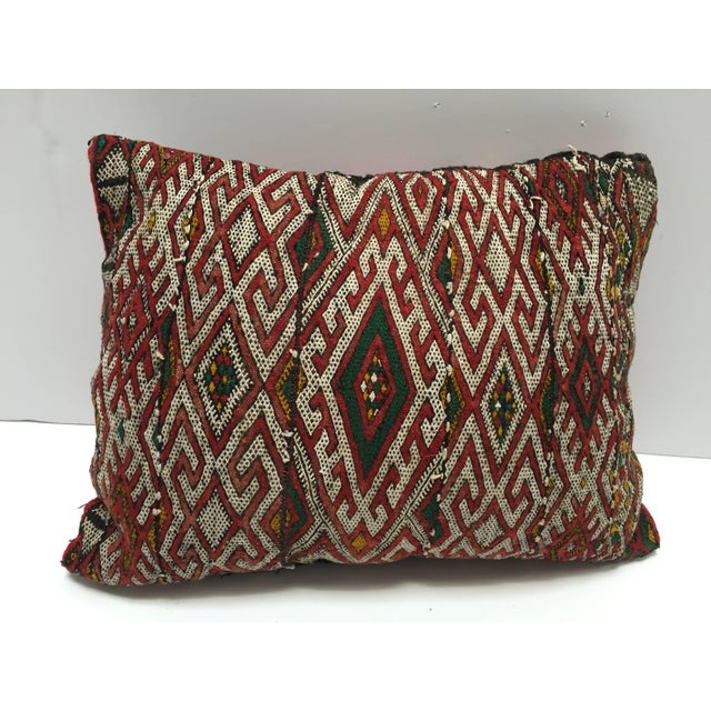 Moroccan Berber Handwoven Tribal Throw Pillow Made From a Vintage Rug For Sale In Los Angeles - Image 6 of 6