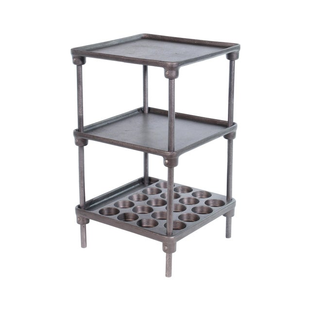 "Cast Iron ""Muffin"" Side Table For Sale - Image 13 of 13"