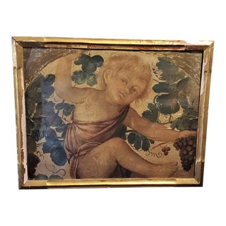 Early 20th Century Medici Print of Putti Under a Vine For Sale