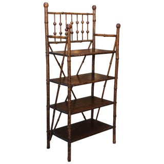 19th Century Boho Chic 4-Shelf Bamboo Bookstand