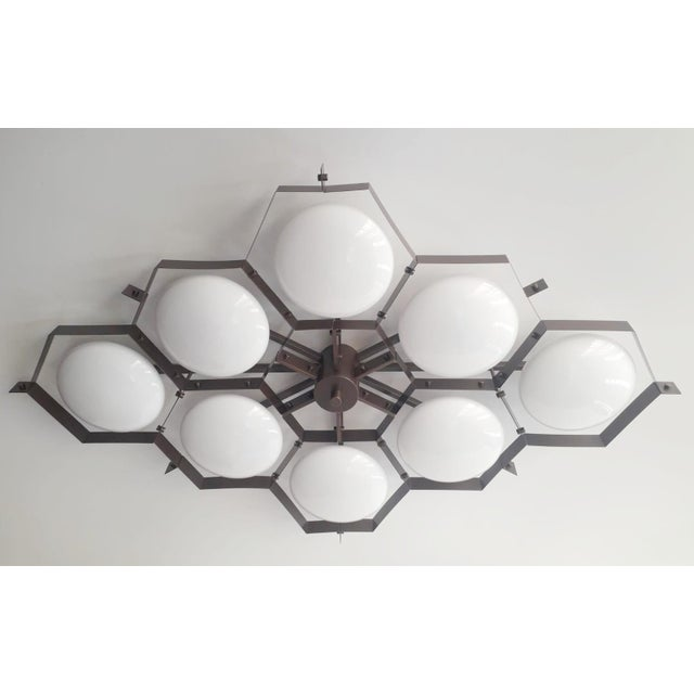 Italian Beehive Flush Mount by Fabio Ltd For Sale - Image 3 of 11