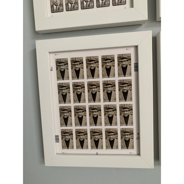 Paper Late 20th Century Black Heritage Month Framed Stamp Collection - 6 Pieces For Sale - Image 7 of 8