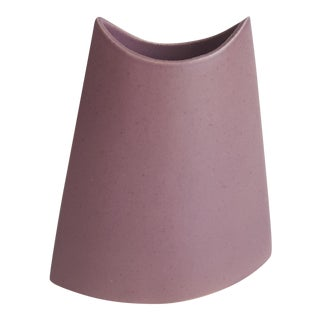 J. Johnston Modernist Mauve Pink Ceramic Pottery Vase