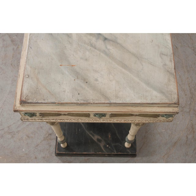 Swedish 19th Century Carved and Painted Console For Sale - Image 11 of 12