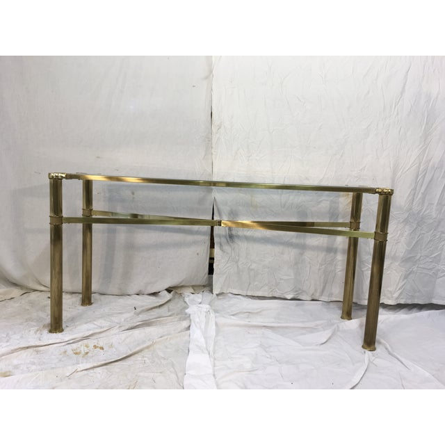 Modernist Brass Console Table - Image 2 of 9