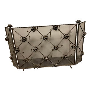 Jan Barboglio Chocolate Rose Fireplace Screen For Sale