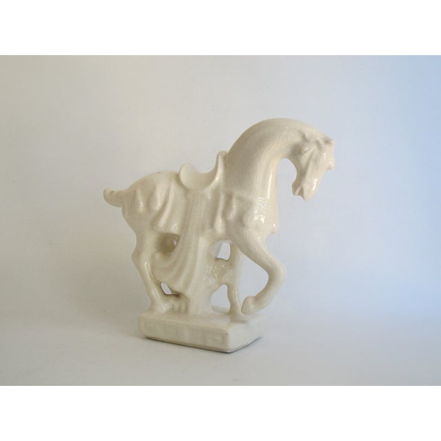 White Chinese Porcelain Horse - Image 6 of 8