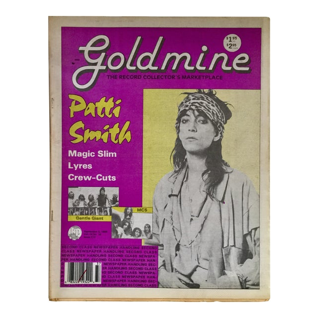 Vintage 'Gold Mine: Patti Smith' 1988 Collectible Magazine For Sale