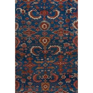 Oversized Blue Ground Serapi Carpet For Sale