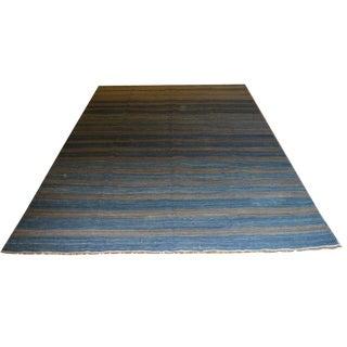 Blue Striped Kilim Rug - 6′1″ × 9′11″