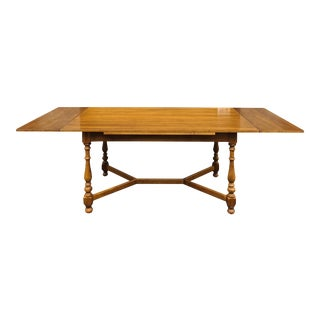 "Ethan Allen Circa 1776 Collection 89"" Colonial Maple Refectory Dining Table For Sale"