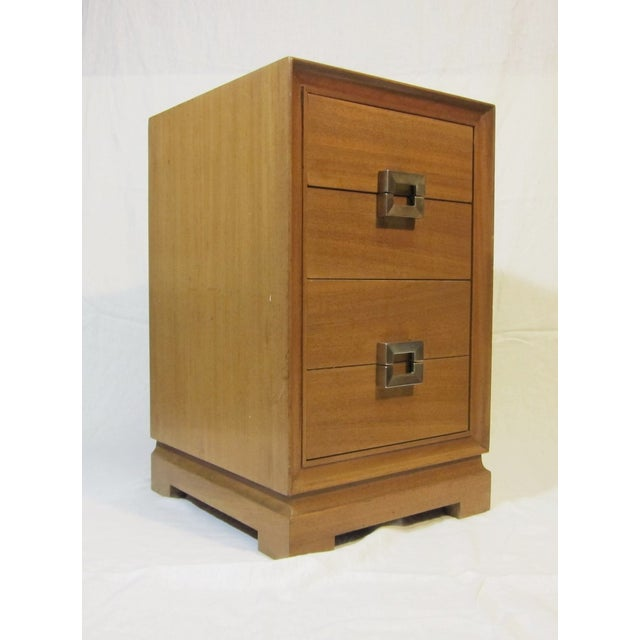 1940s Paul Frankl Style Red Lion Gentlemens Chest - Image 2 of 6