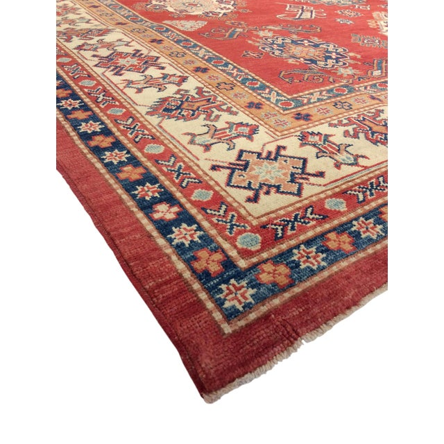 """Kazak Hand Knotted Wool Rug - 9'1"""" x 12'4"""" - Image 2 of 2"""