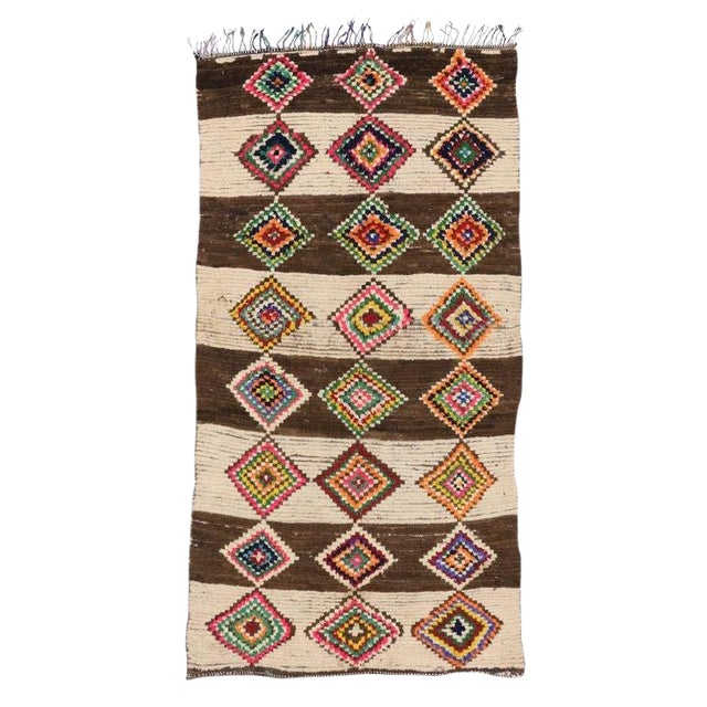 20th Century Moroccan Berber Azilal Rug - 4'10 X 9'4 For Sale