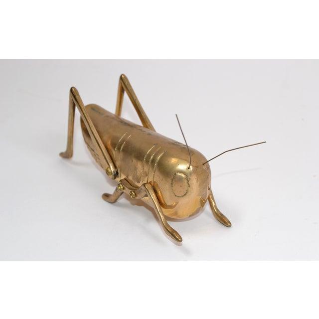Brass Italian Mid-Century Modern Brass Grasshopper Sculpture, Animal Sculpture 1970 For Sale - Image 8 of 9