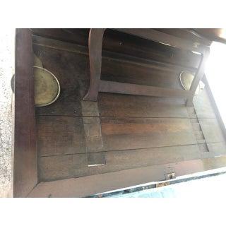 19th Century Georgian Antique English Mahogany Architects Desk Brass Pulls Preview