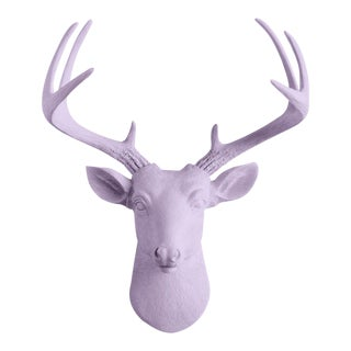 Wall Charmers Mini Deer Lavender Purple Faux Head Mount Bust