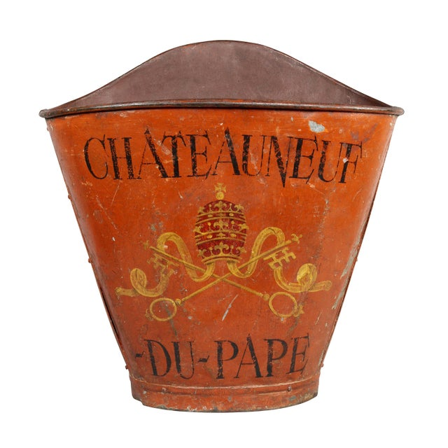 French Tole Grape Basket from the Chateauneuf Du-Pape For Sale - Image 9 of 9