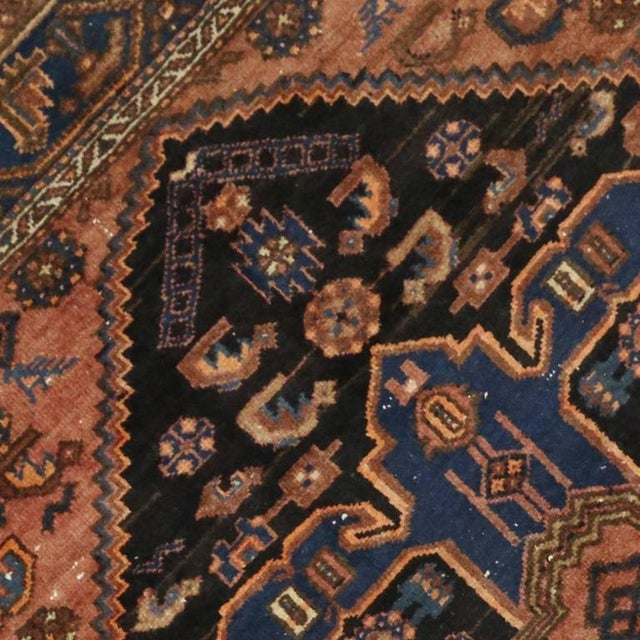 Antique Persian Hamadan Rug with Modern Tribal Style For Sale - Image 4 of 7
