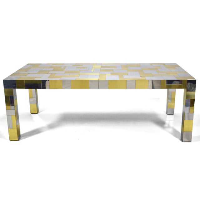Brass Paul Evans Cityscape Dining Table For Sale - Image 7 of 10