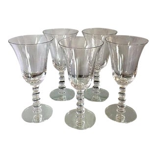 Vintage Imperial Candlewick Water Goblets - Set of 5