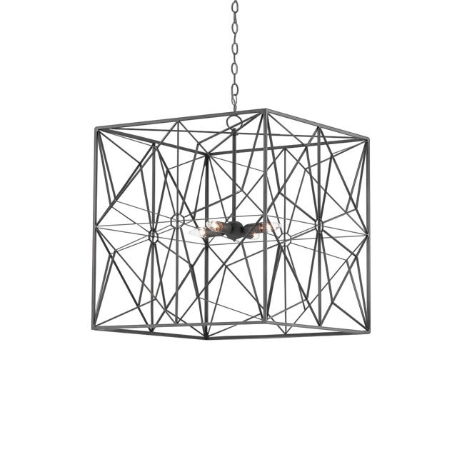 Currey & Co. Asanoha Chandelier For Sale