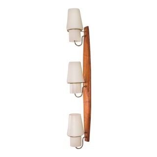 Danish Modern Vertical Sconce Light For Sale