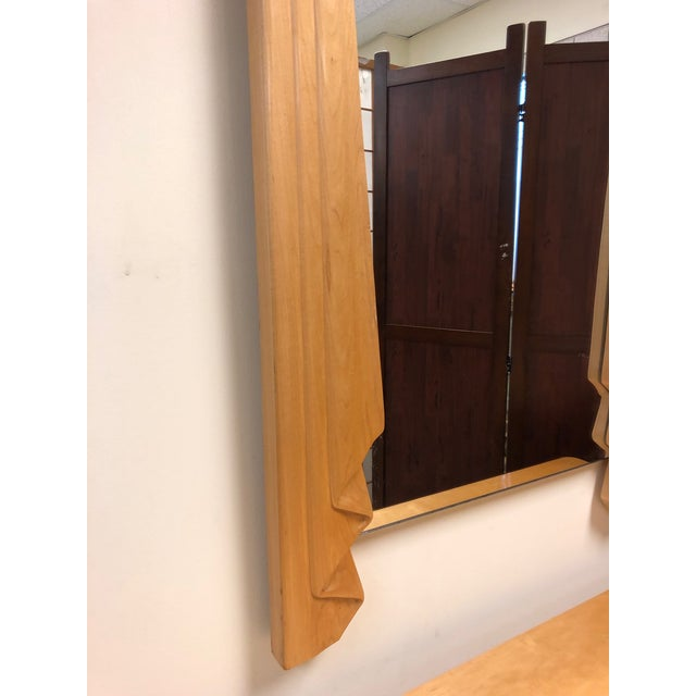 Wood Hollywood Regency Console and Matching Mirror For Sale - Image 7 of 8