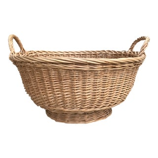 Boho Natural Wood Woven Basket